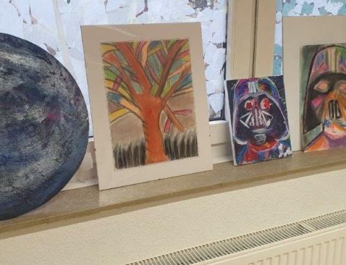 Ein paar Bilder aus der Kunstwerkstatt in der PEB.